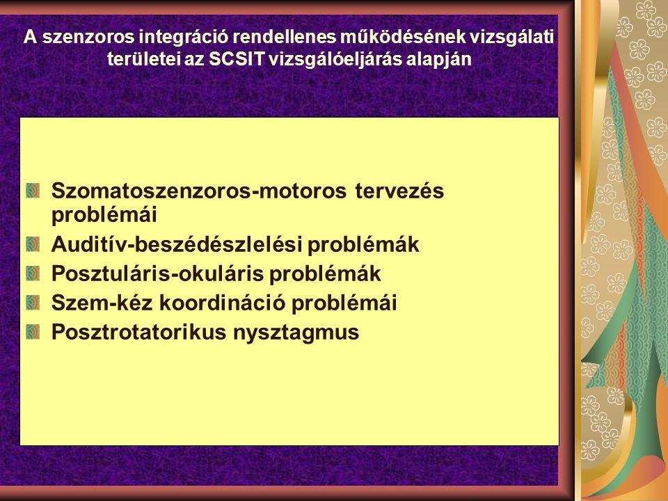 Szomatoszenzoros-motoros tervezés problémái
