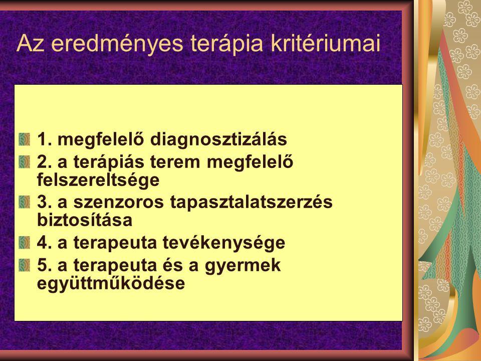 Az eredményes terápia kritériumai