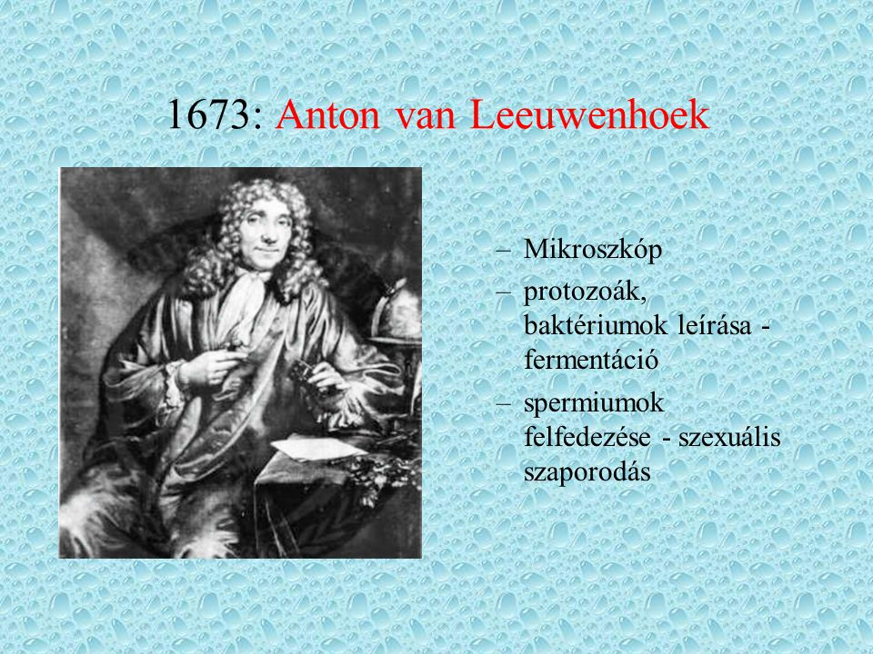 1673: Anton van Leeuwenhoek