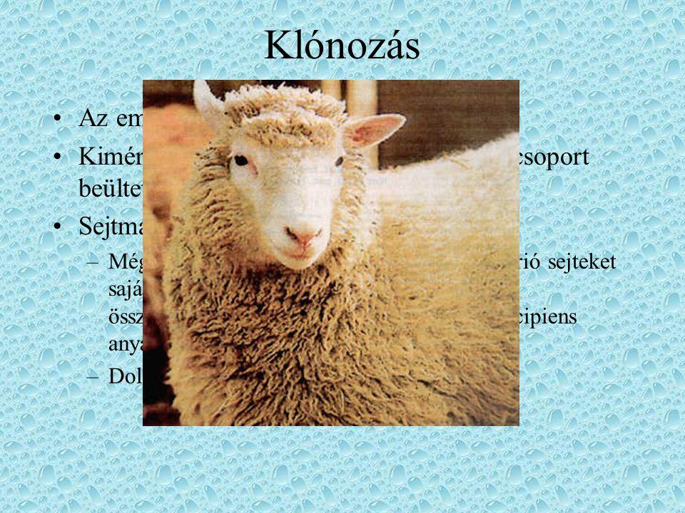 Klónozás Az embriódarabolás is klónozás