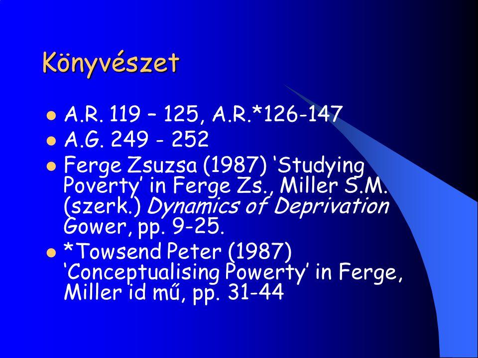 Könyvészet A.R. 119 – 125, A.R.*126-147 A.G. 249 - 252