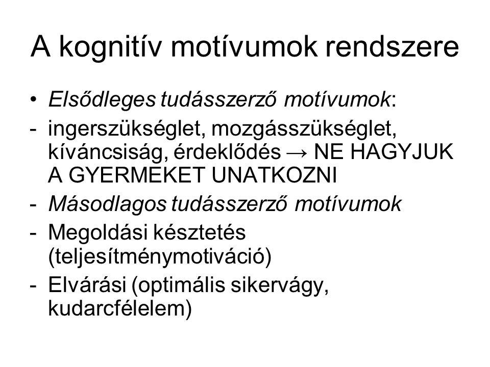 A kognitív motívumok rendszere