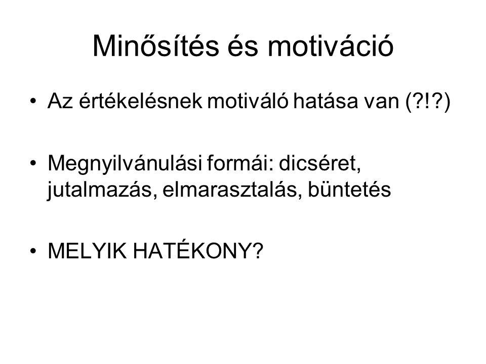 Minősítés és motiváció