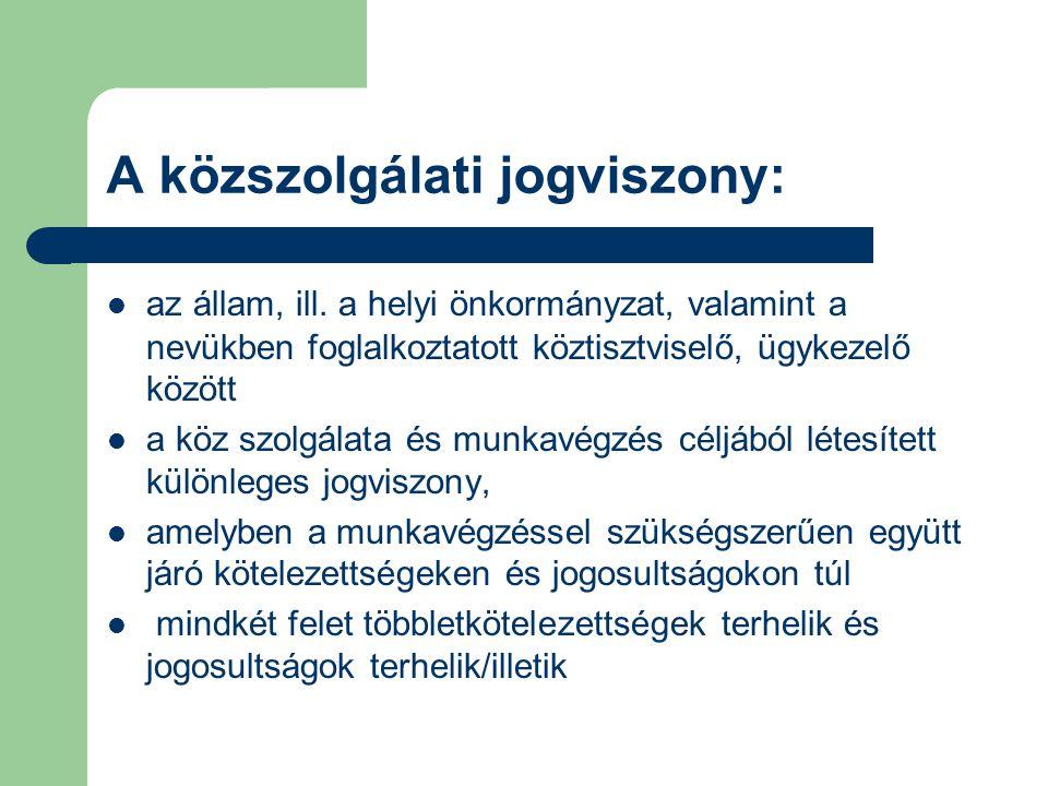 A közszolgálati jogviszony: