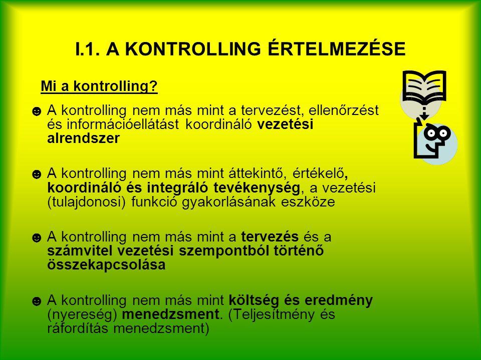 I.1. A KONTROLLING ÉRTELMEZÉSE