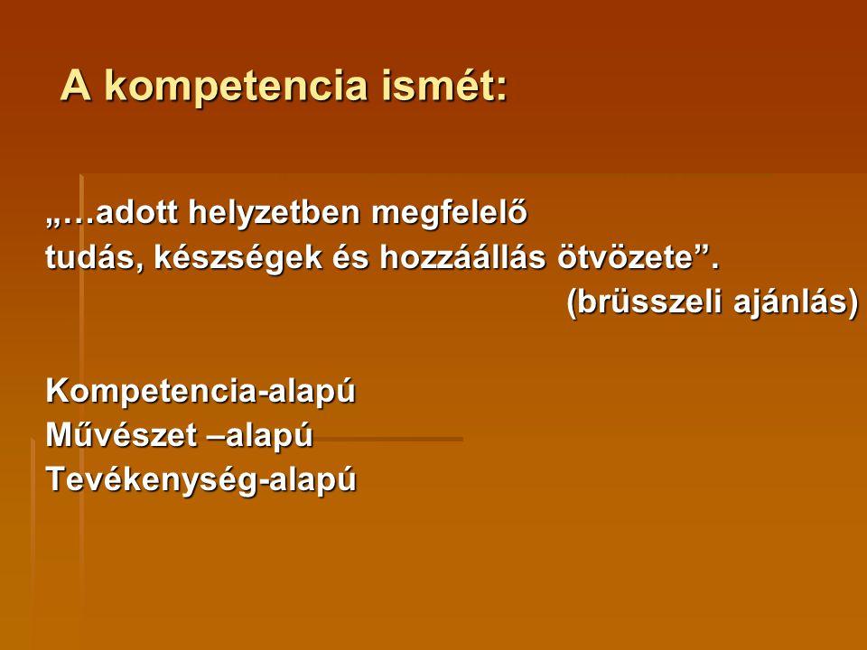 """A kompetencia ismét: """"…adott helyzetben megfelelő"""