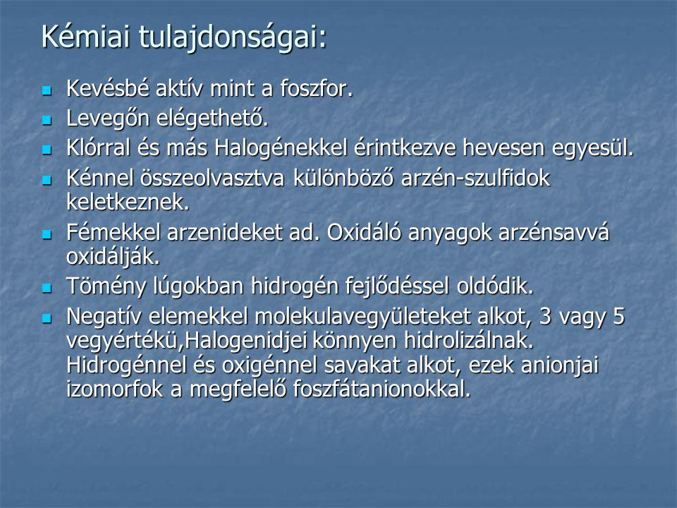 Kémiai tulajdonságai: