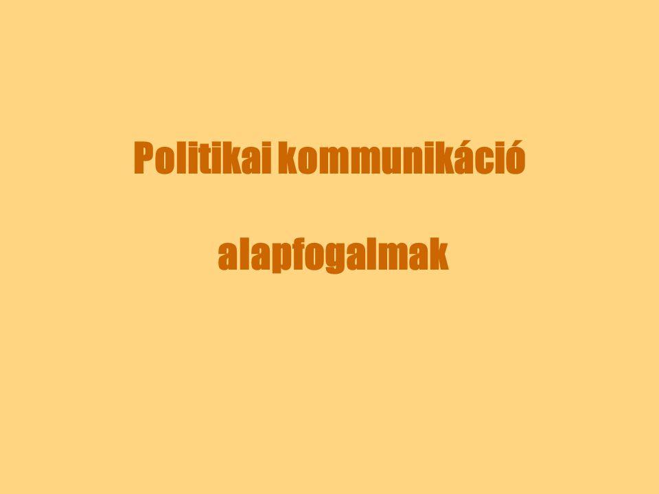 Politikai kommunikáció alapfogalmak