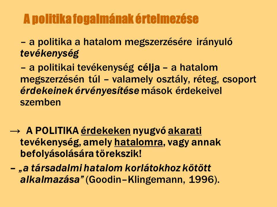 A politika fogalmának értelmezése