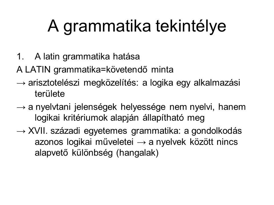 A grammatika tekintélye