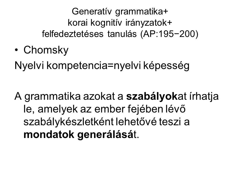 Nyelvi kompetencia=nyelvi képesség