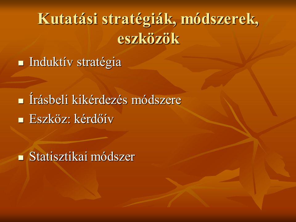 Kutatási stratégiák, módszerek, eszközök