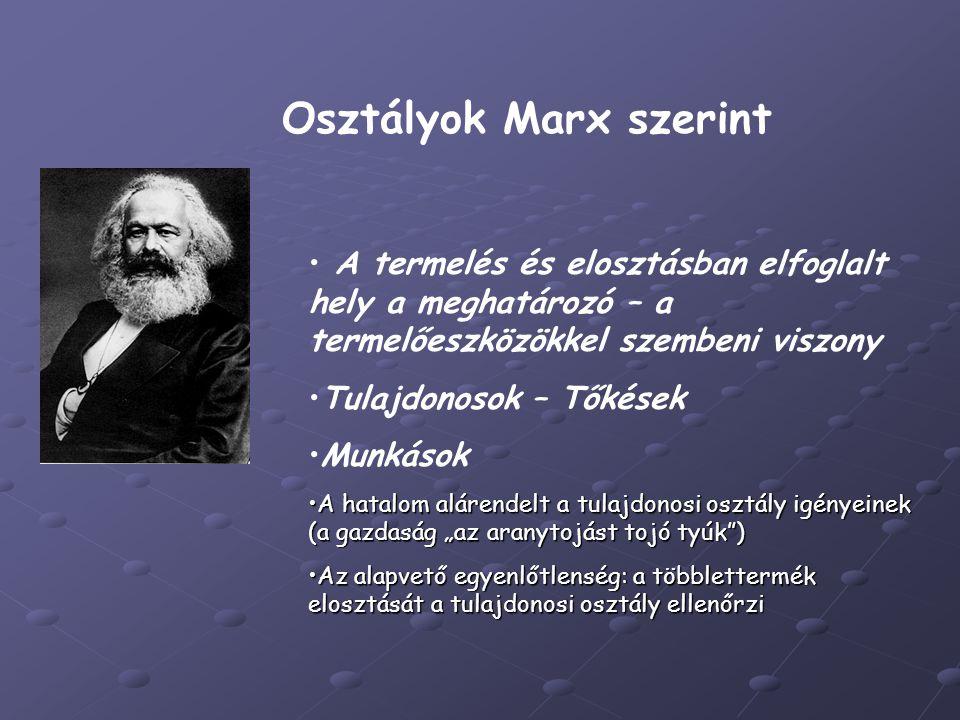 Osztályok Marx szerint
