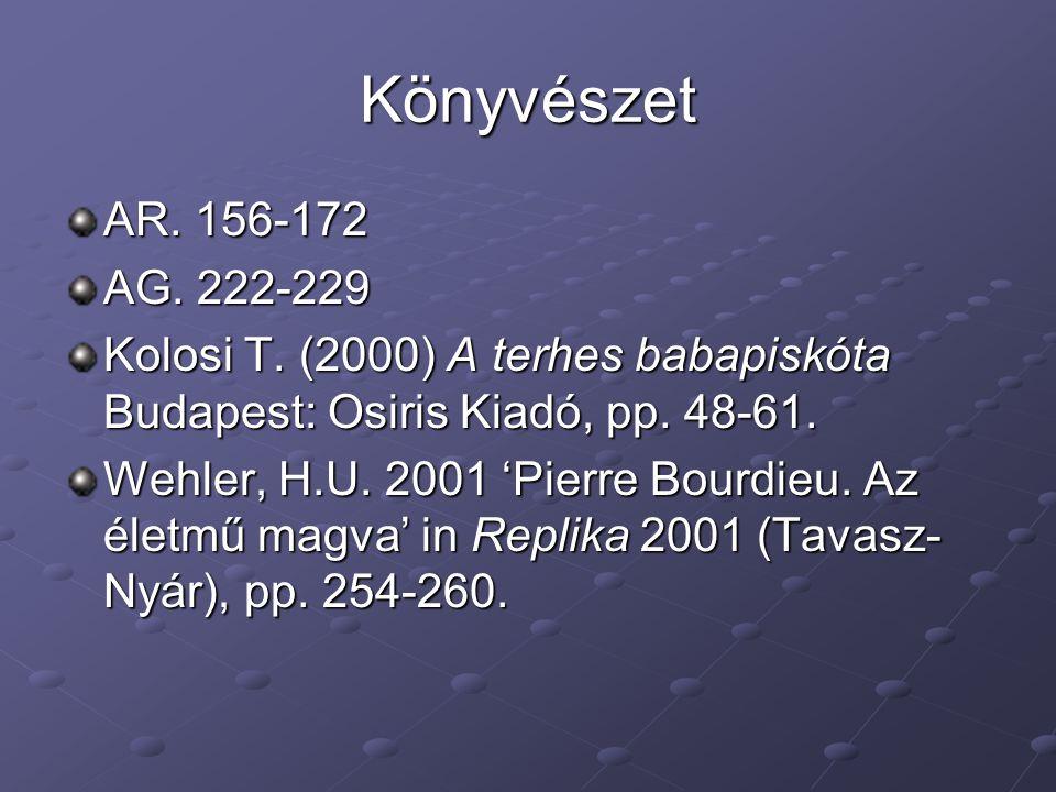 Könyvészet AR. 156-172. AG. 222-229. Kolosi T. (2000) A terhes babapiskóta Budapest: Osiris Kiadó, pp. 48-61.