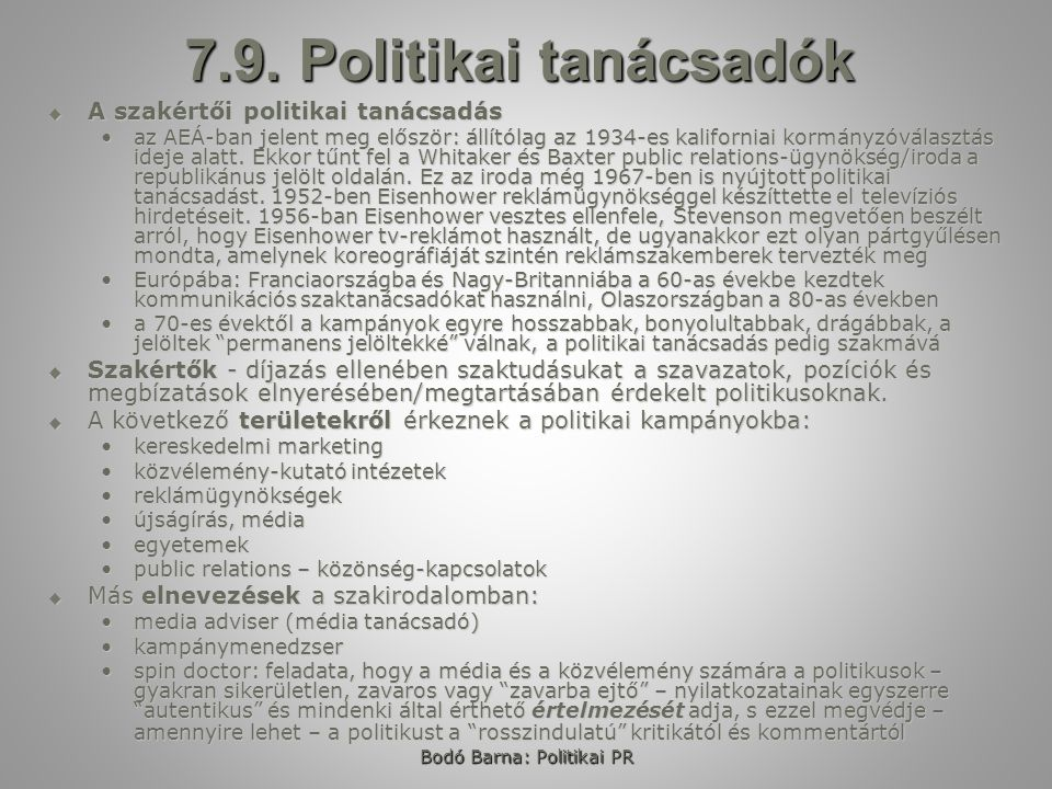 Bodó Barna: Politikai PR