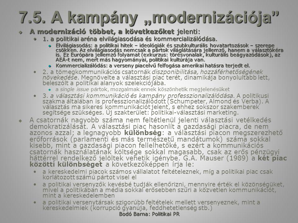 """7.5. A kampány """"modernizációja"""