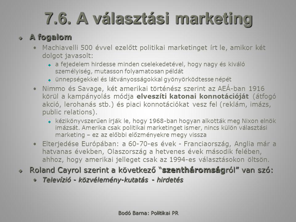 7.6. A választási marketing