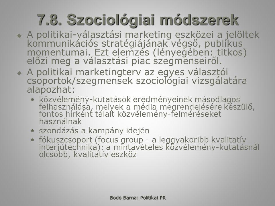 7.8. Szociológiai módszerek