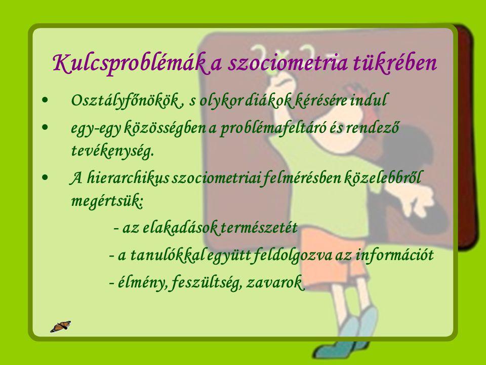 Kulcsproblémák a szociometria tükrében