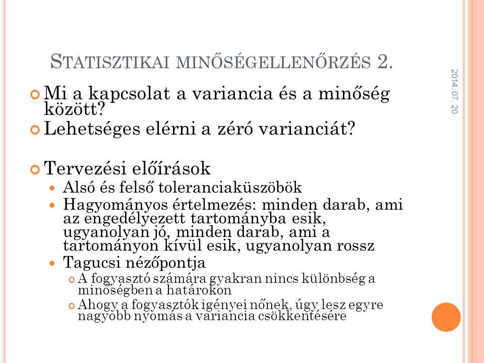 Statisztikai minőségellenőrzés 2.