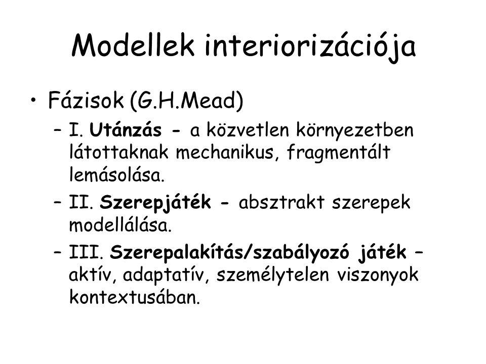 Modellek interiorizációja