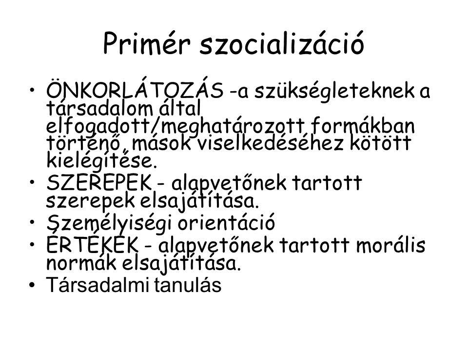 Primér szocializáció