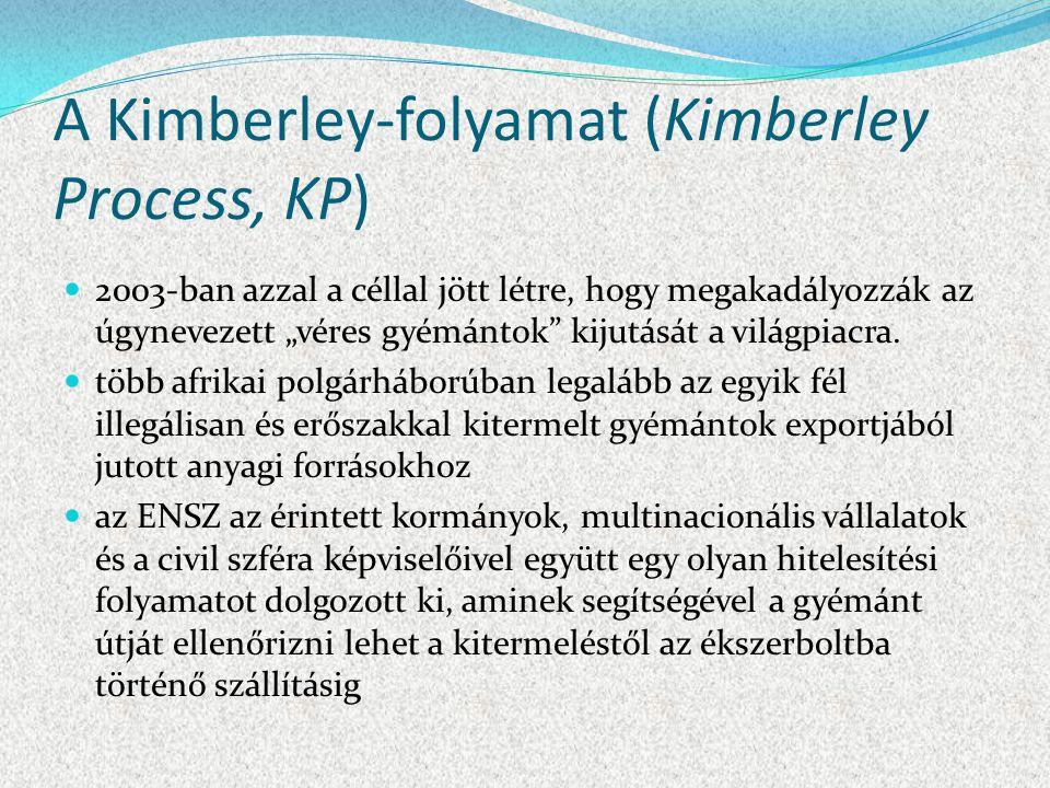 A Kimberley-folyamat (Kimberley Process, KP)