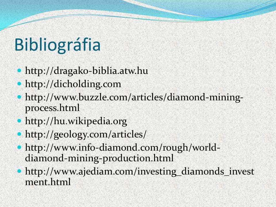 Bibliográfia http://dragako-biblia.atw.hu http://dicholding.com