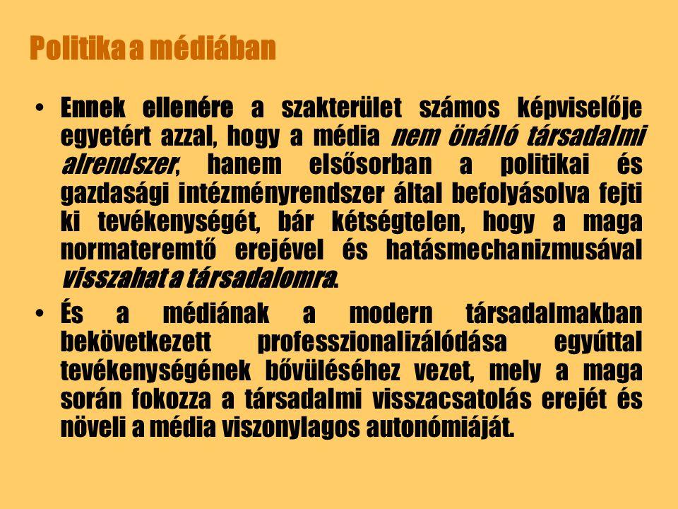Politika a médiában