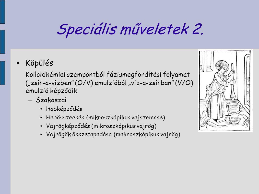 Speciális műveletek 2. Köpülés