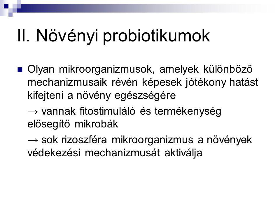 II. Növényi probiotikumok