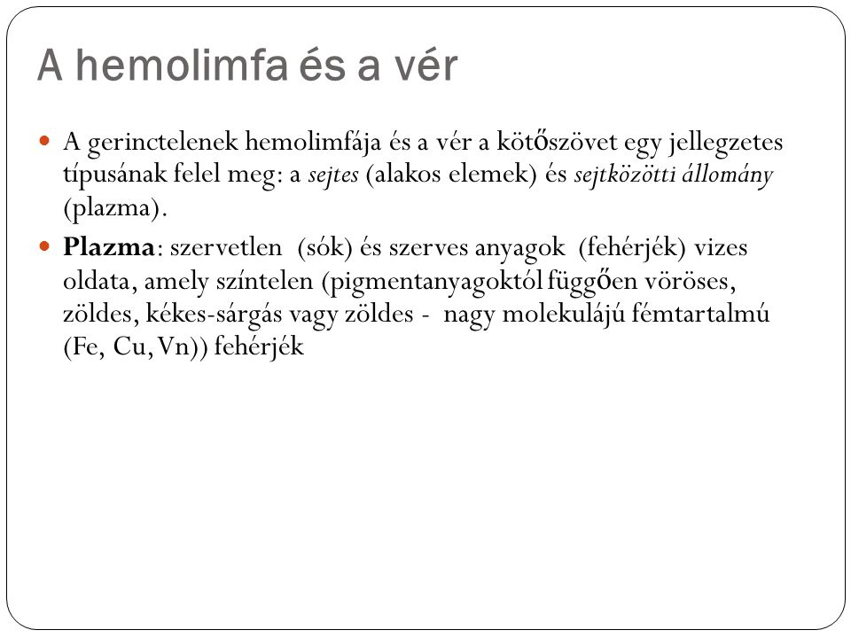 A hemolimfa és a vér