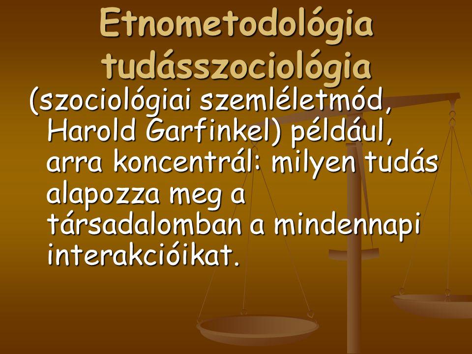 Etnometodológia tudásszociológia