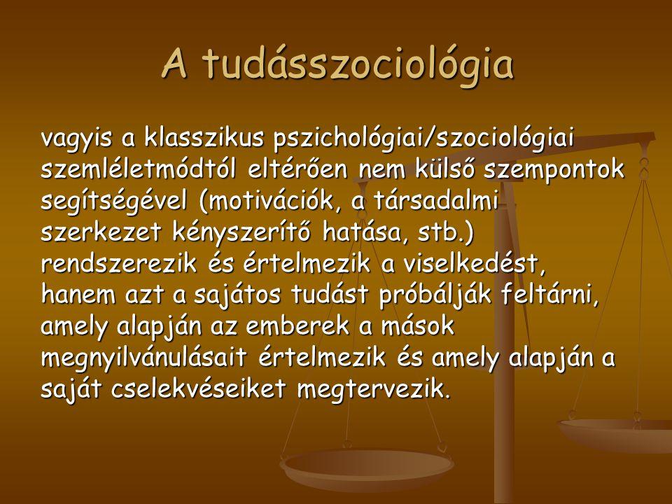 A tudásszociológia