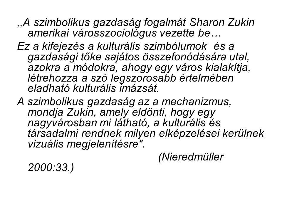 ,,A szimbolikus gazdaság fogalmát Sharon Zukin amerikai városszociológus vezette be…