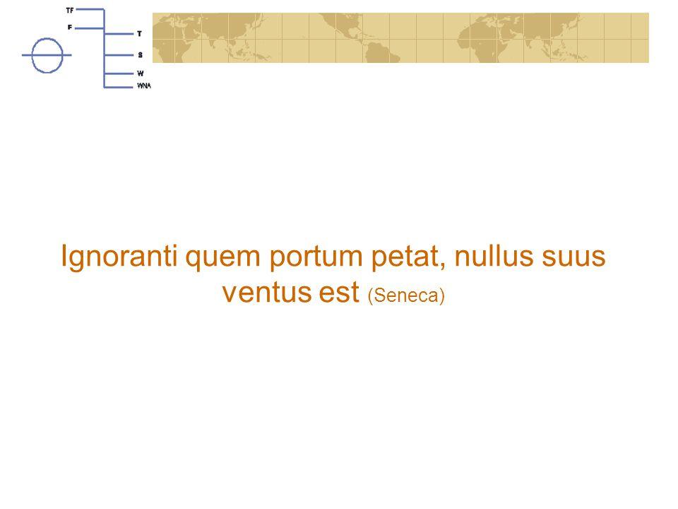Ignoranti quem portum petat, nullus suus ventus est (Seneca)