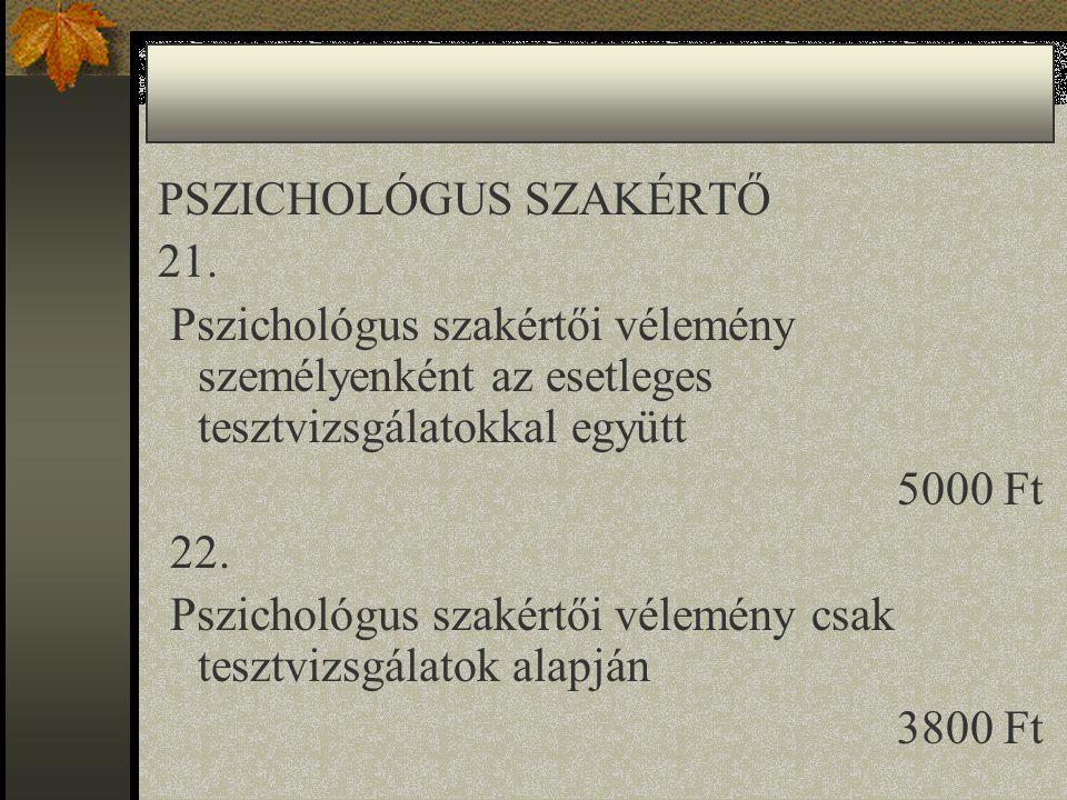 PSZICHOLÓGUS SZAKÉRTŐ