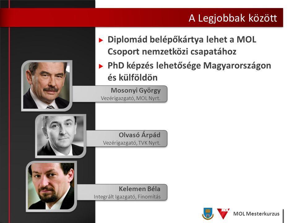 A Legjobbak között Diplomád belépőkártya lehet a MOL Csoport nemzetközi csapatához. PhD képzés lehetősége Magyarországon és külföldön.