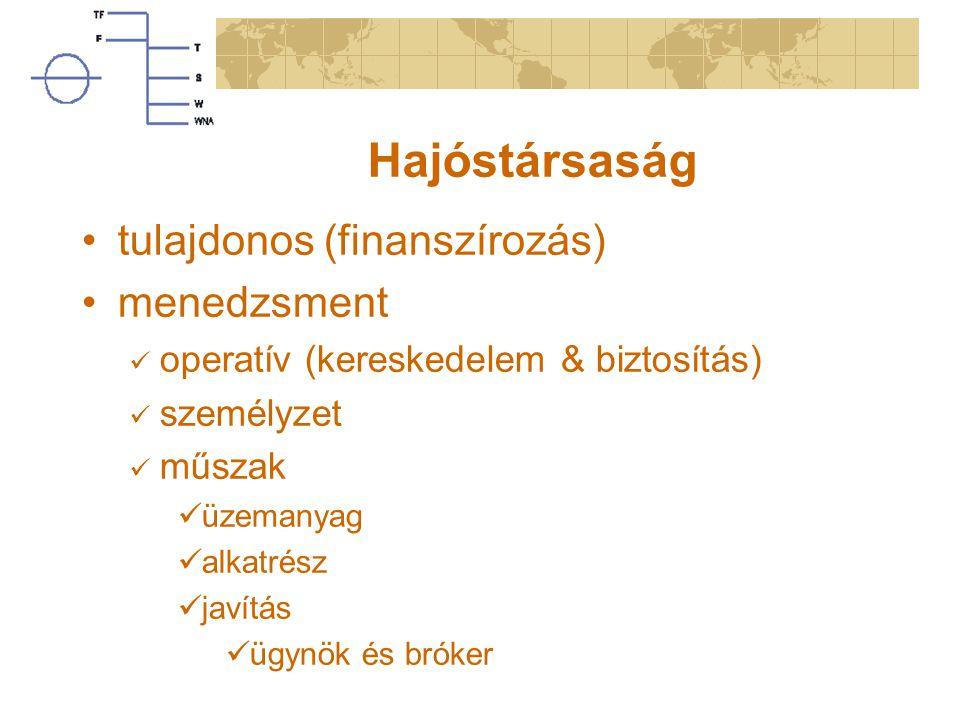 Hajóstársaság tulajdonos (finanszírozás) menedzsment