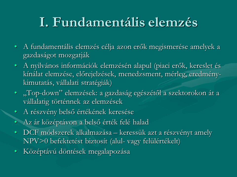 I. Fundamentális elemzés
