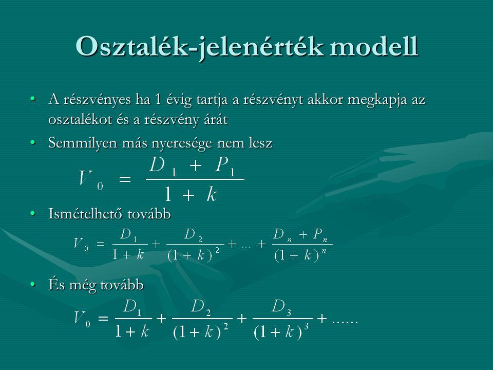 Osztalék-jelenérték modell