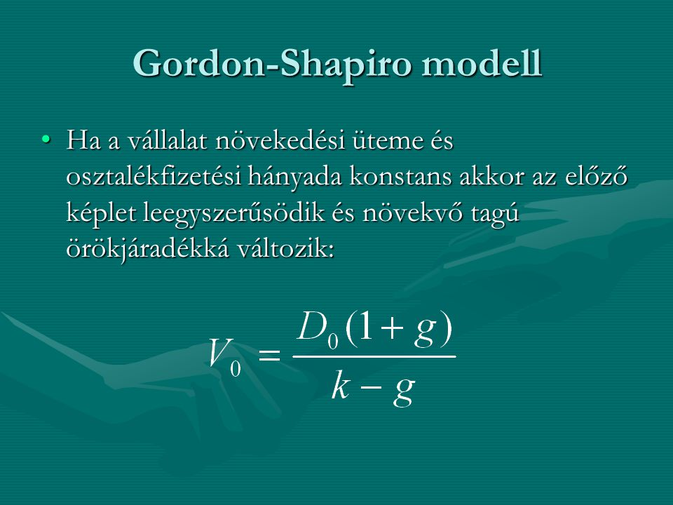 Gordon-Shapiro modell