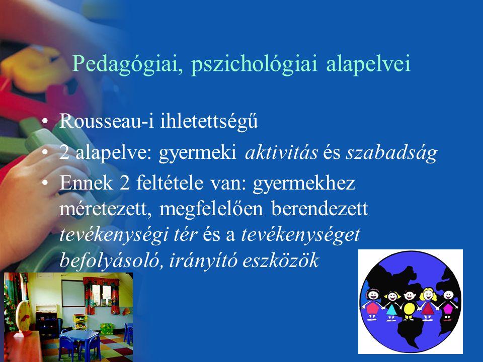 Pedagógiai, pszichológiai alapelvei