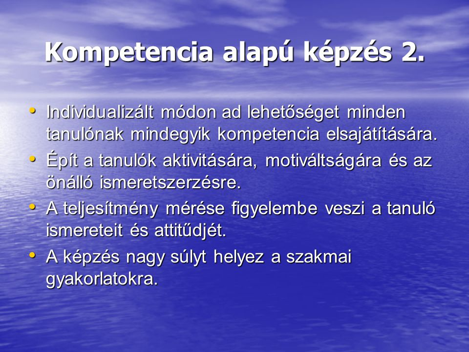 Kompetencia alapú képzés 2.