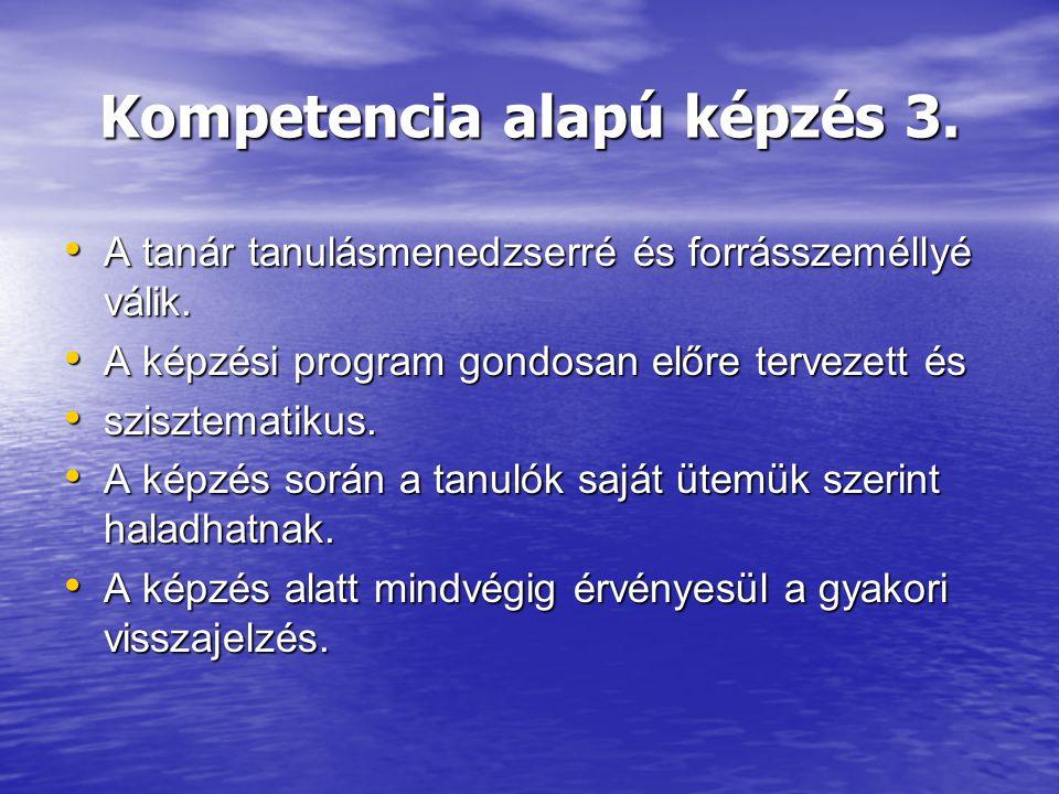 Kompetencia alapú képzés 3.