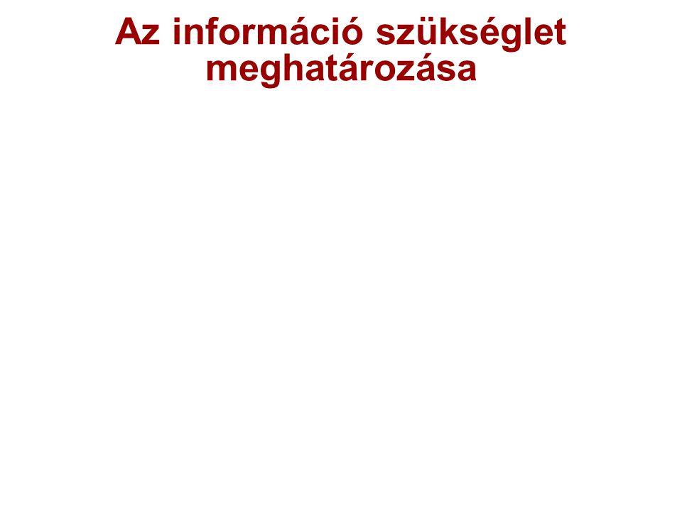 Az információ szükséglet meghatározása