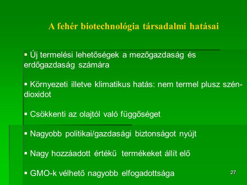 A fehér biotechnológia társadalmi hatásai