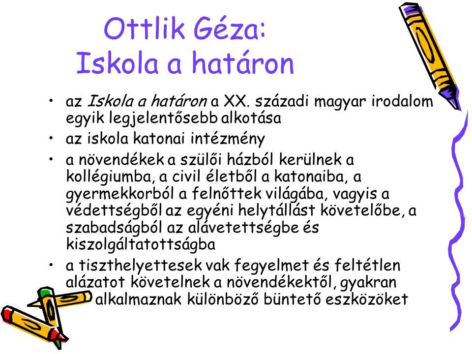 Ottlik Géza: Iskola a határon