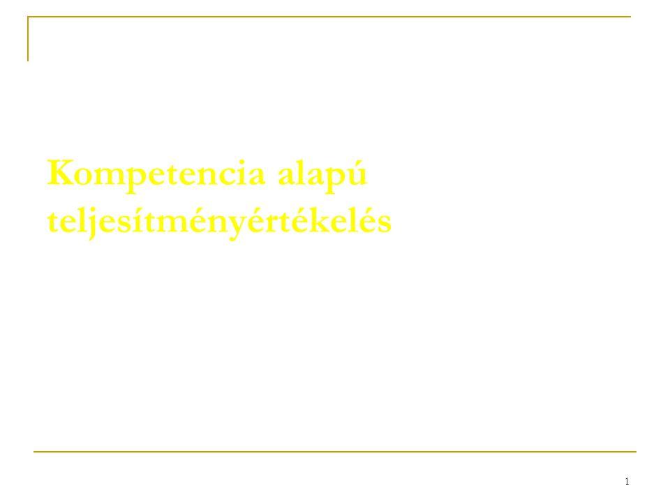 Kompetencia alapú teljesítményértékelés
