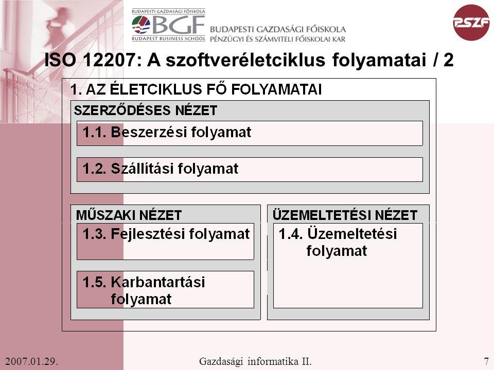 ISO 12207: A szoftveréletciklus folyamatai / 2